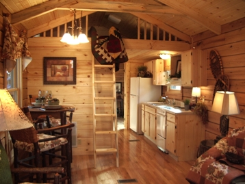 Living roomdecor rexyness for Small log cabin interior design ideas